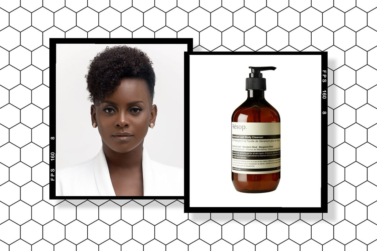 Dionne Smith and Aesop's Geranium Leaf Body Cleanser