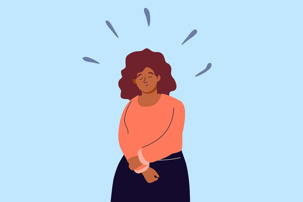 A woman dealing with stress and anxiety
