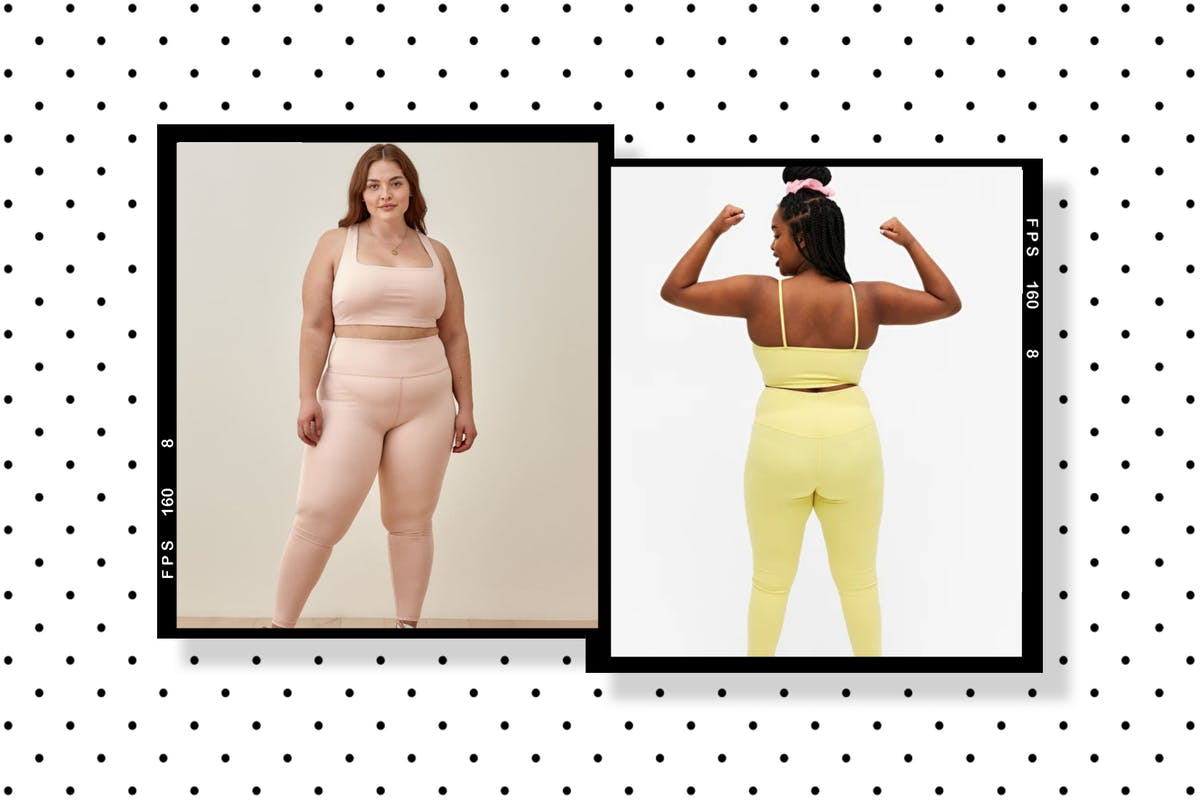 A collage of reformation and monki's activewear sets