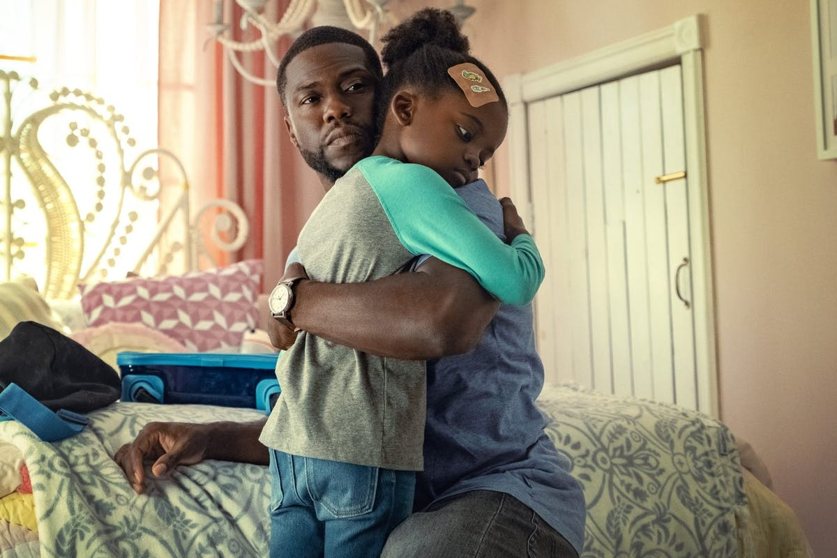 Kevin Hart and Melody Hurd in Netflix's Fatherhood