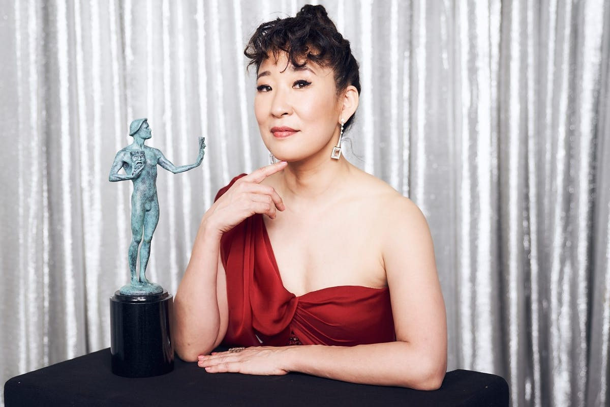 Sandra Oh, winner of Outstanding Performance by a Female Actor in a Drama Series for 'Killing Eve,' poses in the Winner's Gallery during the 25th Annual Screen Actors Guild Awards at The Shrine Auditorium on January 27, 2019 in Los Angeles, California. (Photo by Terence Patrick/Getty Images for Turner)