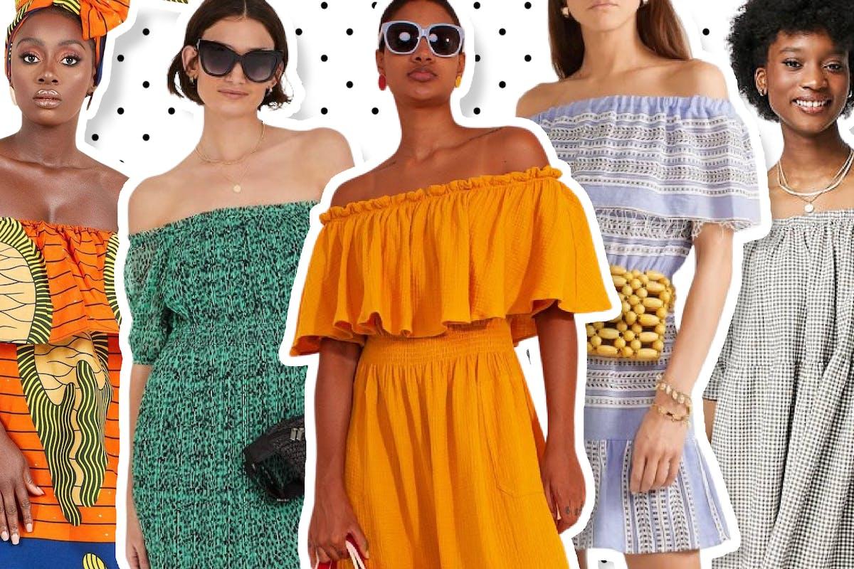 Best off-the-shoulder dresses.