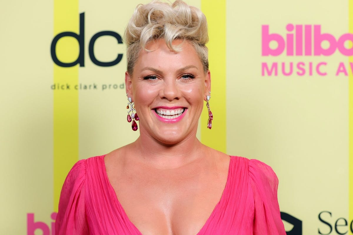 P!nk poses backstage for the 2021 Billboard Music Awards, broadcast on May 23, 2021 at Microsoft Theater in Los Angeles, California. (Photo by Rich Fury/Getty Images for dcp)