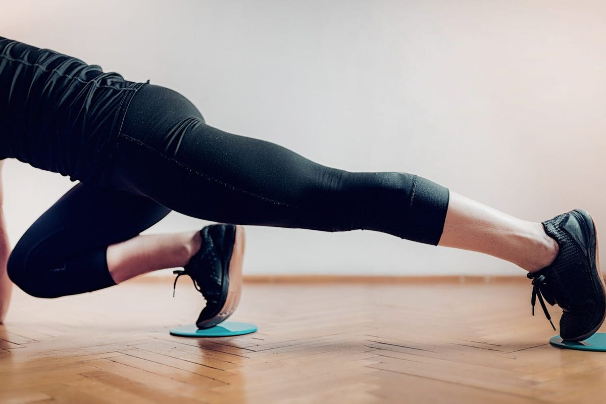 Slider workout glutes and core burn
