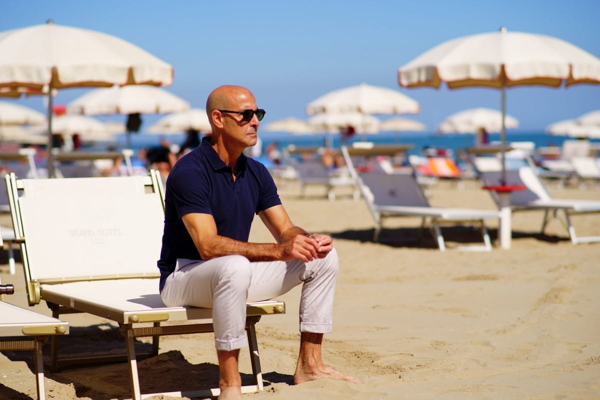 Searching For Italy: a still of Stanley Tucci in Naples