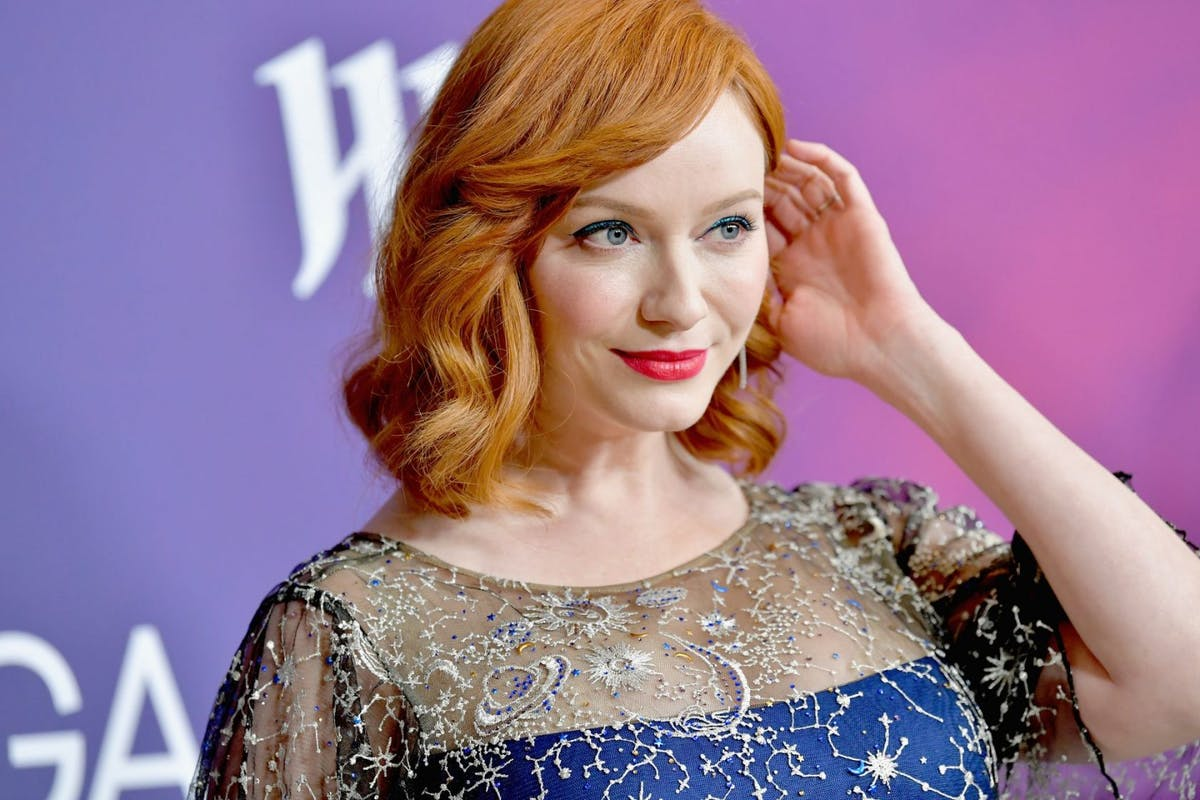 Christina Hendricks attends The 21st CDGA (Costume Designers Guild Awards) at The Beverly Hilton Hotel in 2019