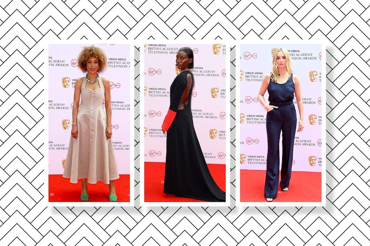 Sophie Okonedo, Michaela Coel and Jodie Comer on the Baftas red carpet