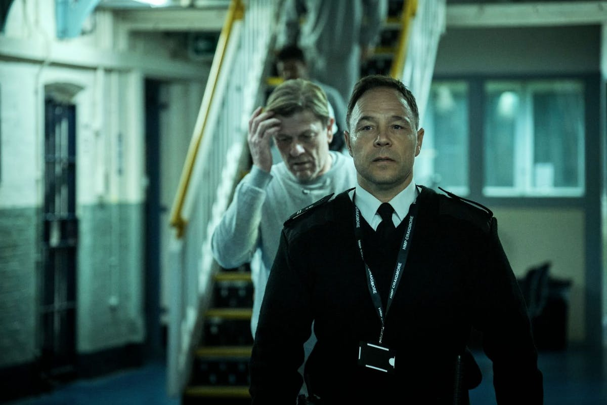 Stephen Graham and Sean Bean in Time on BBC One