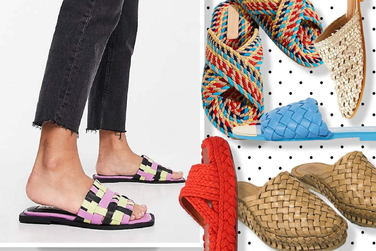 Woven sandals for hot weather dressing
