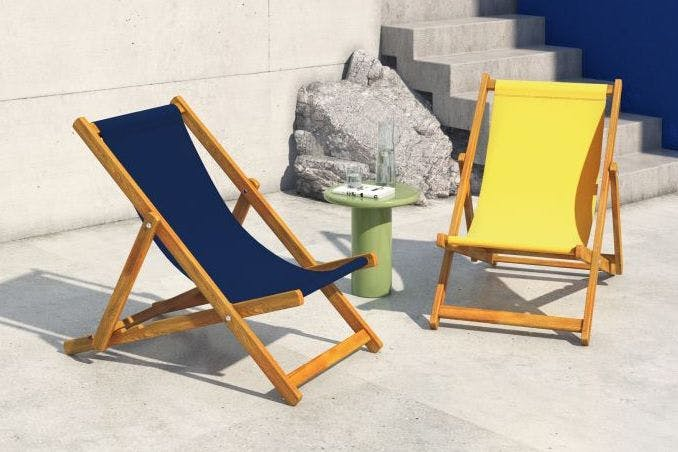 Stylish deckchairs for summer lounging
