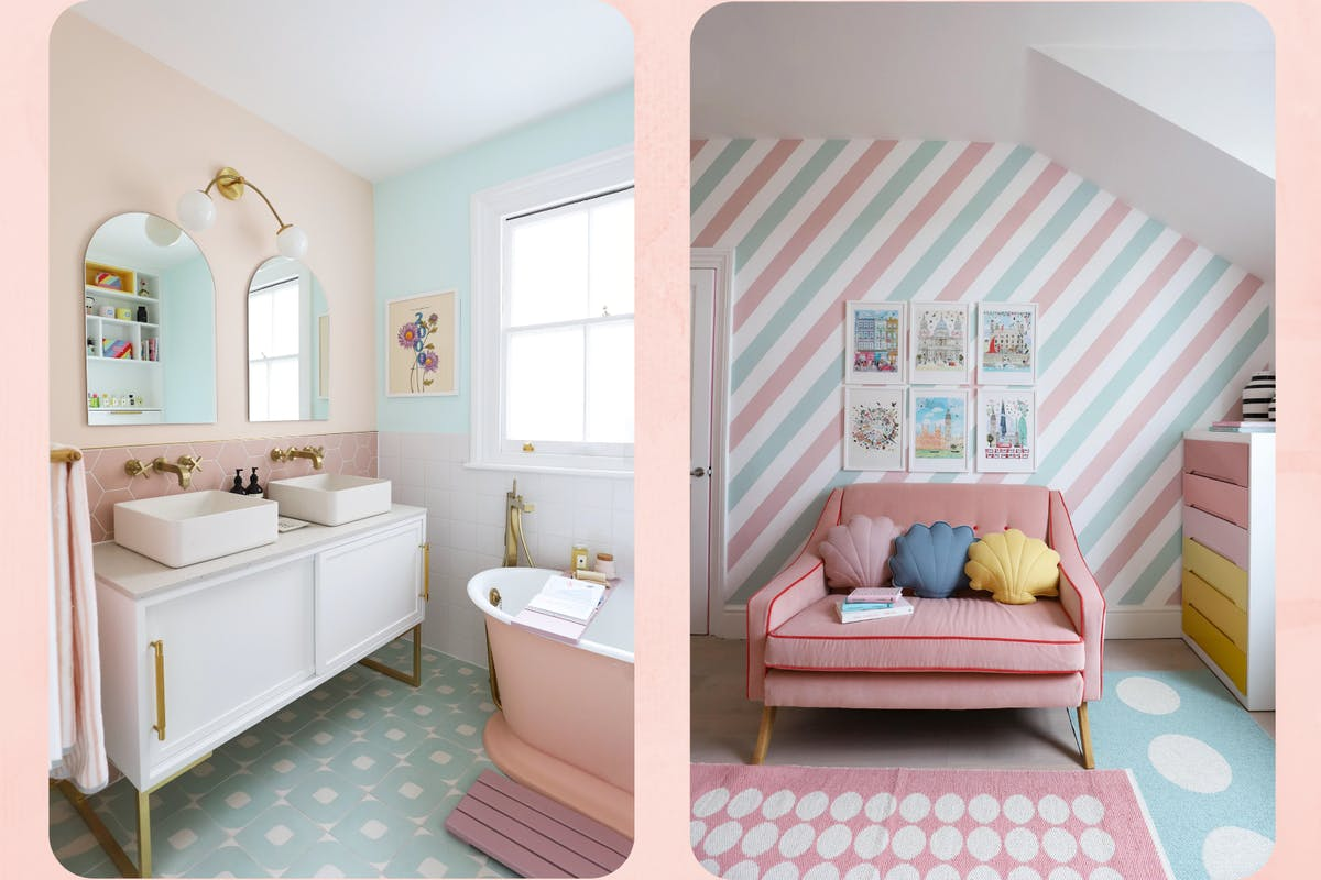 Dr Geraldine Tan's (@littlebigbell) victorian home renovation with pastel colour furniture and wall paint