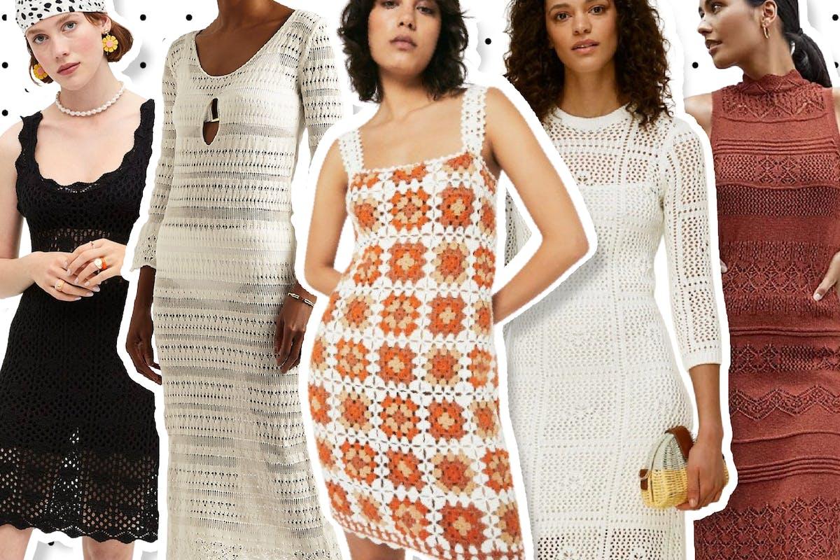 Crochet dresses are big for summer
