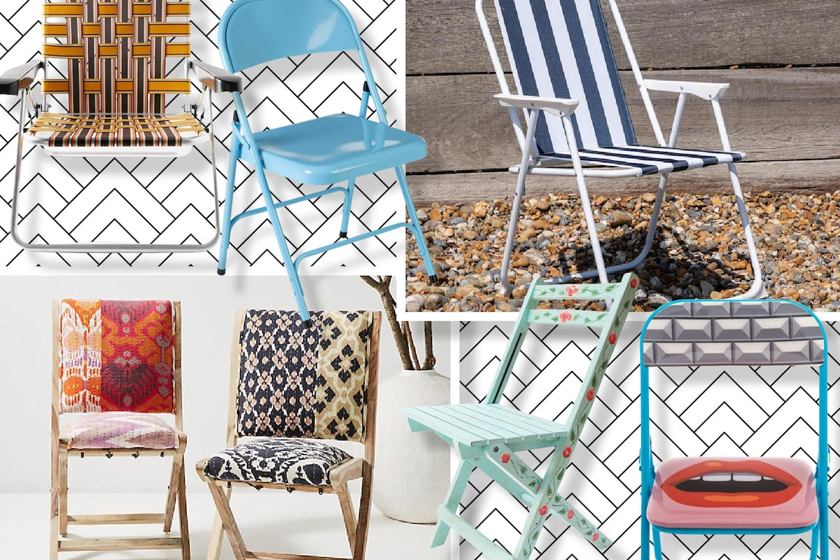 Folding chairs for easy outdoor entertaining
