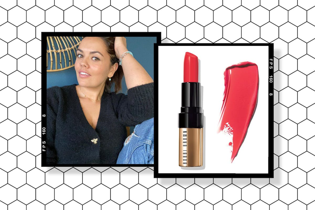 Bobbi Brown Luxe Lip Colour in Flame and Bryony Blake