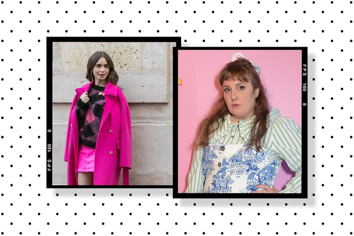 Picture collage of Lena Dunham and Lily Collins