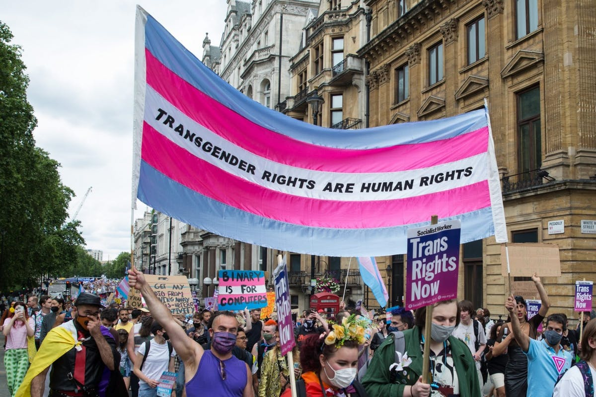 Trans Pride march in London