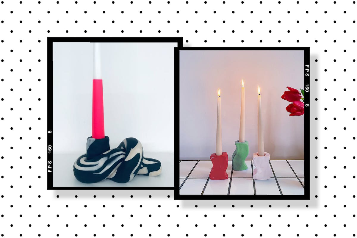 Sculptural candle holders are all the rage