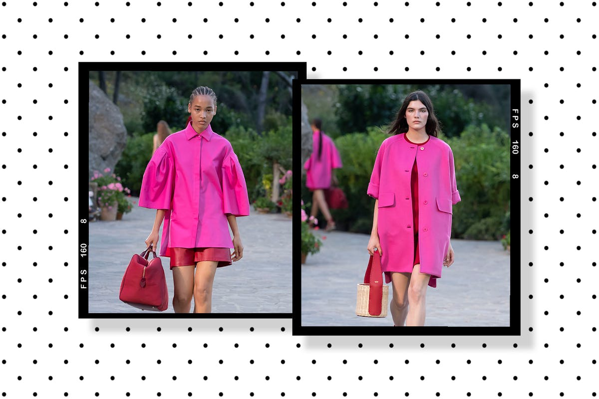 According to Max Mara, pink and red are back in a big way