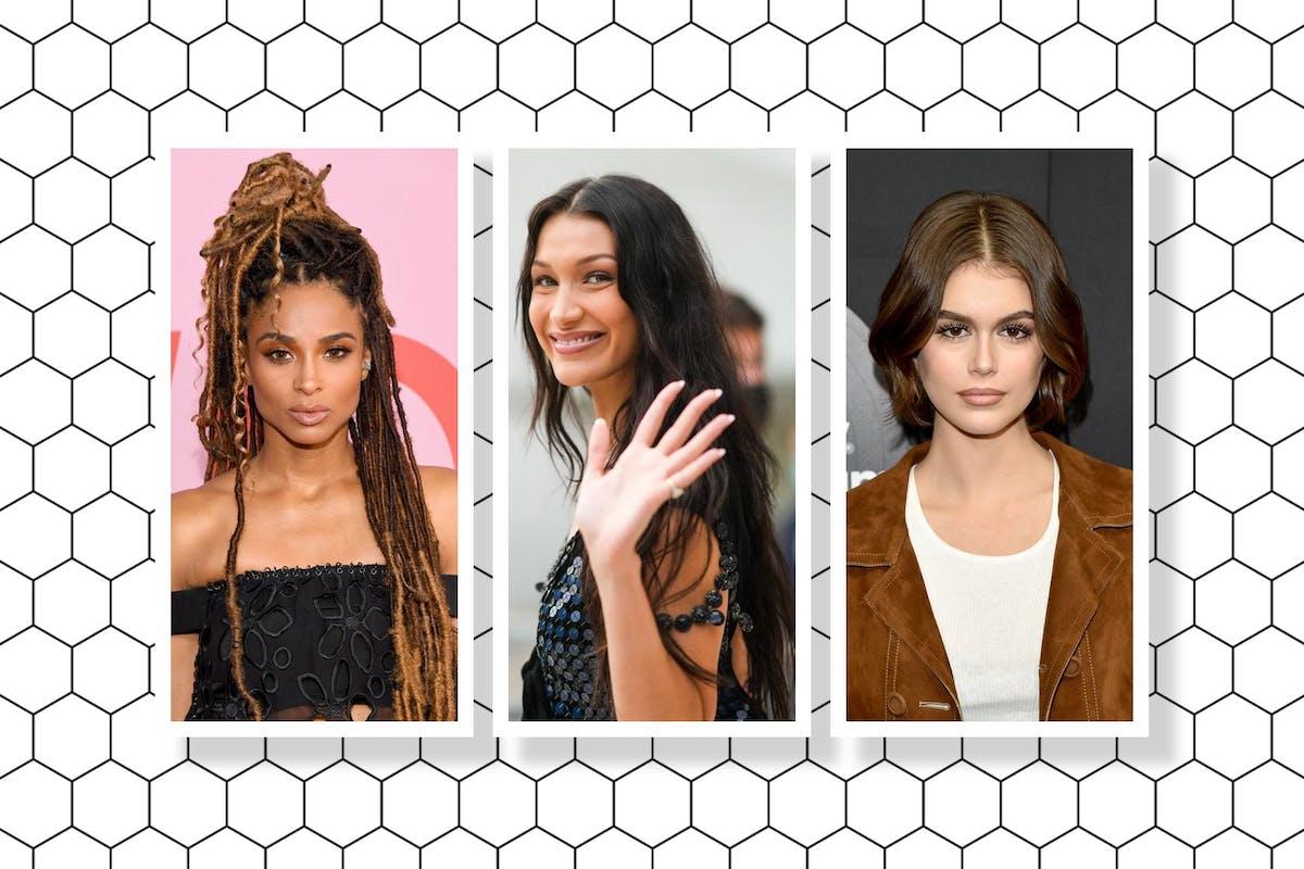 Brown hair trends: Ciara, Bella Hadid and Kaia Gerber