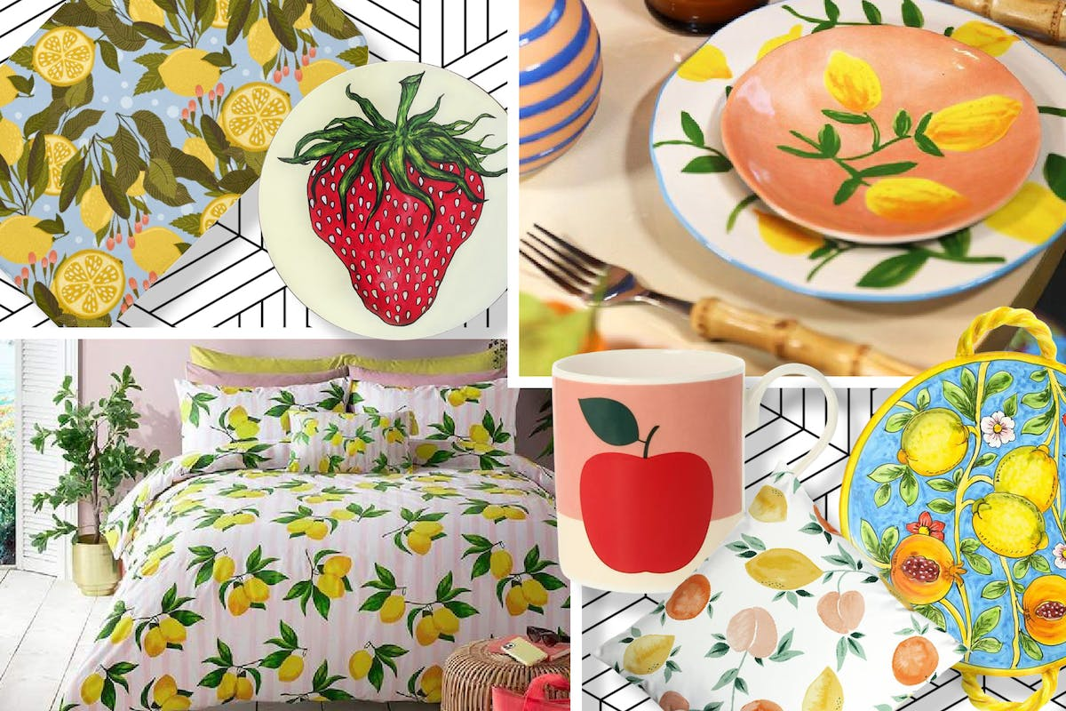 Fruity-patterned homeware to buy now.