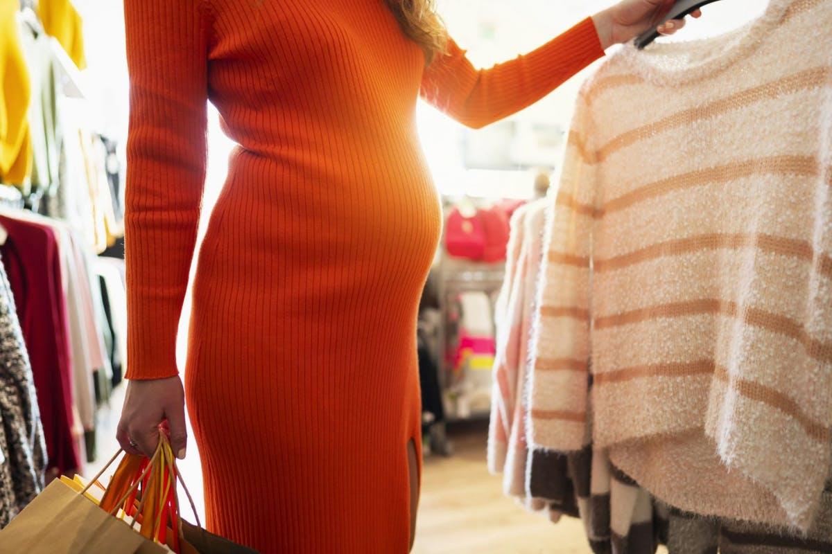 Maternity clothes for the stylish mom - stock photo