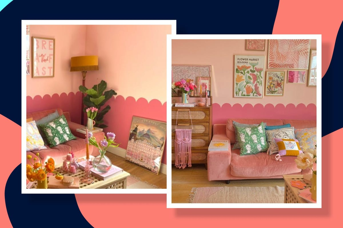 Pink scalloped walls interior trend