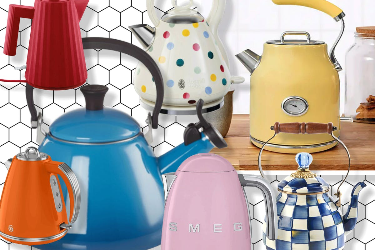 Colourful kettles are a perfect way to spruce up your kitchen.