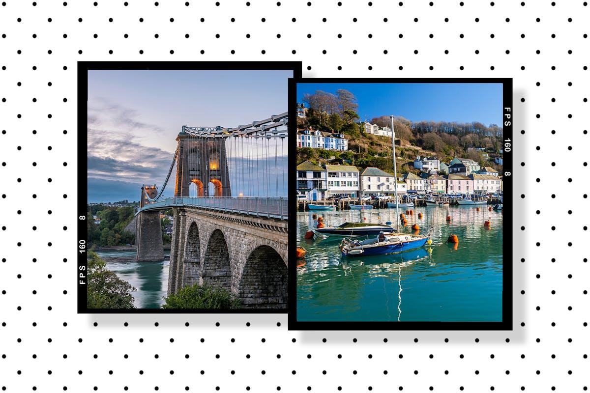 Menai Bridge and Looe, Cornwall