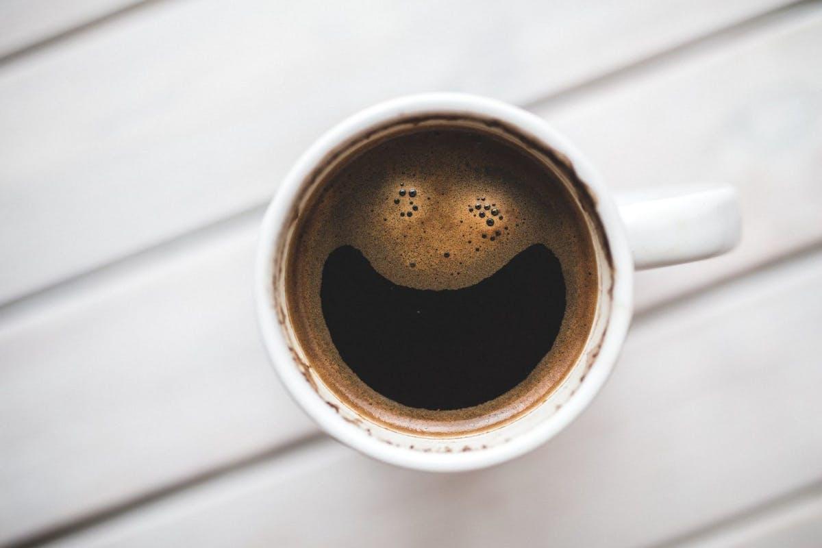 A coffee mug shot from overhead
