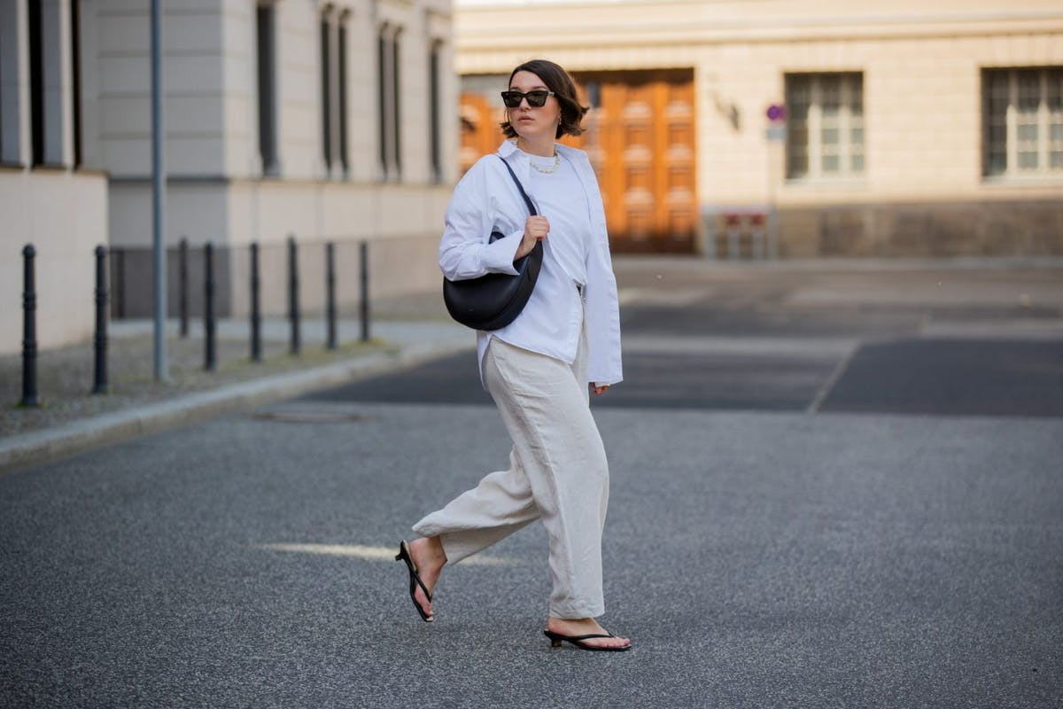 Linen trousers are perfect for summer