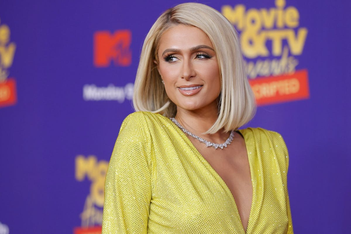 , Paris Hilton attends the 2021 MTV Movie & TV Awards: UNSCRIPTED in Los Angeles, California. (Photo by Amy Sussman/Getty Images)