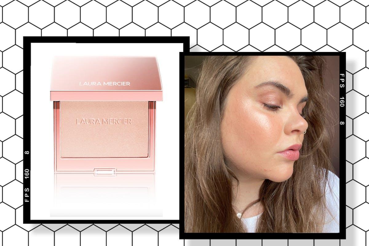 laura mercier roseglow highlighting powder review