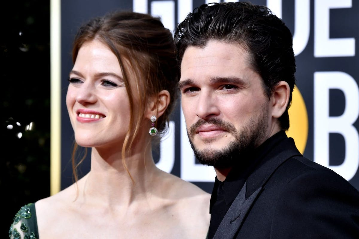 Rose Leslie, Kit Harington attend the 77th Annual Golden Globe Awards at The Beverly Hilton Hotel on January 05, 2020 in Beverly Hills, California. (Photo by Frazer Harrison/Getty Images)
