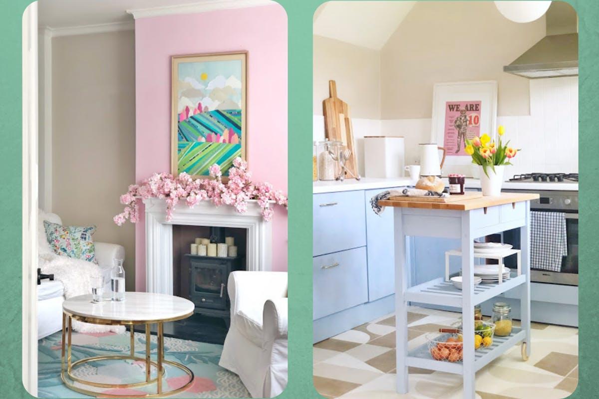 Beam Irwin's DIY pastel home renovation
