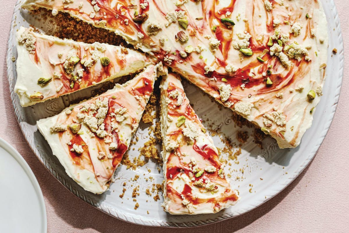 pistachio cheesecake recipe with tahini