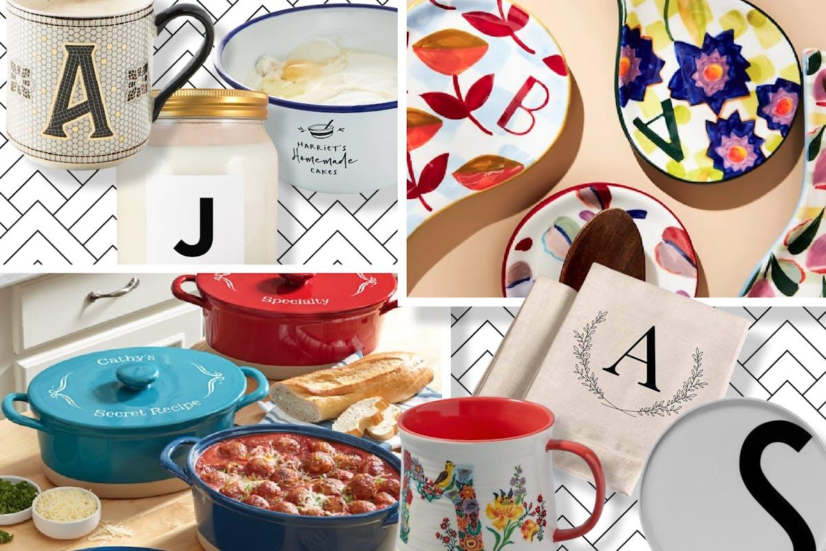 Monogram kitchenware is all the rage