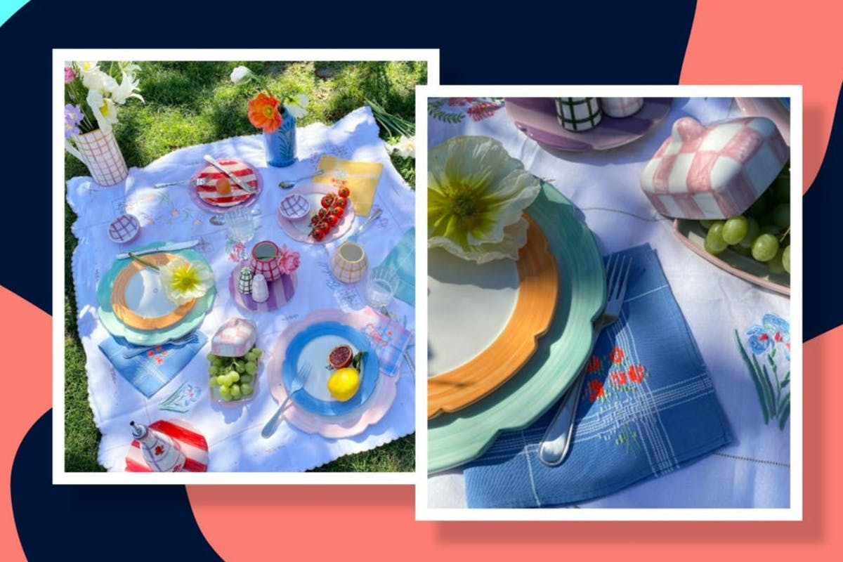 how to tablescape picnic