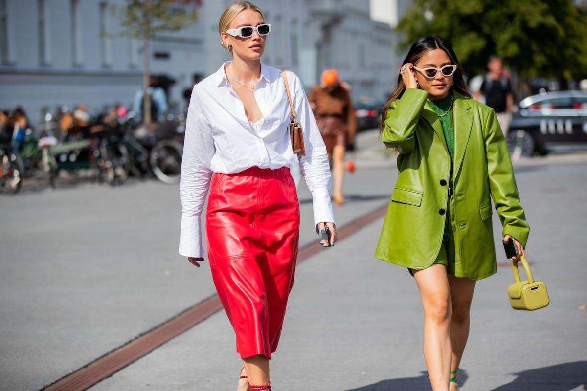 White sunglasses are big for summer