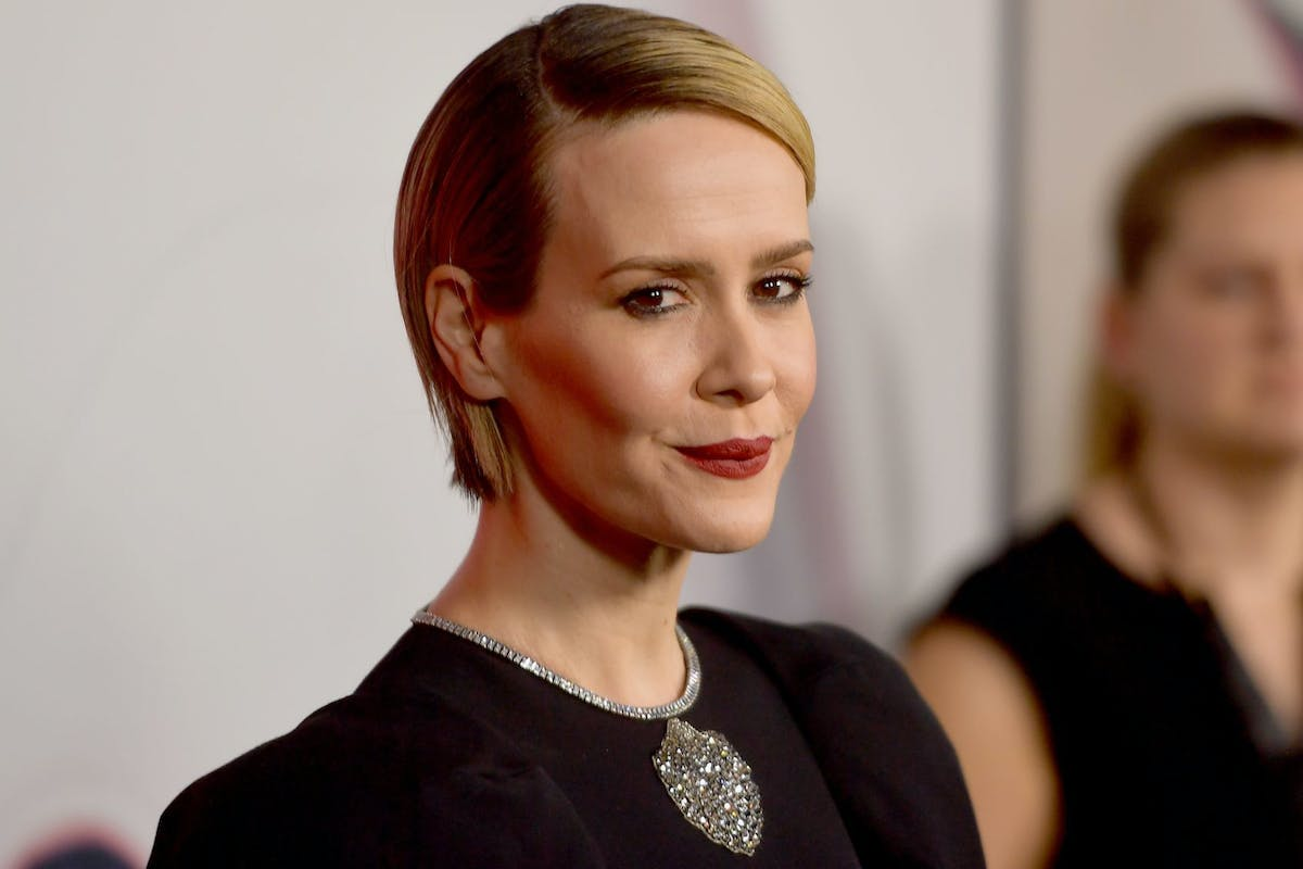 """Sarah Paulson attends FX's """"American Horror Story"""" 100th Episode Celebration at Hollywood Forever on October 26, 2019 in Hollywood, California. (Photo by Matt Winkelmeyer/Getty Images)"""