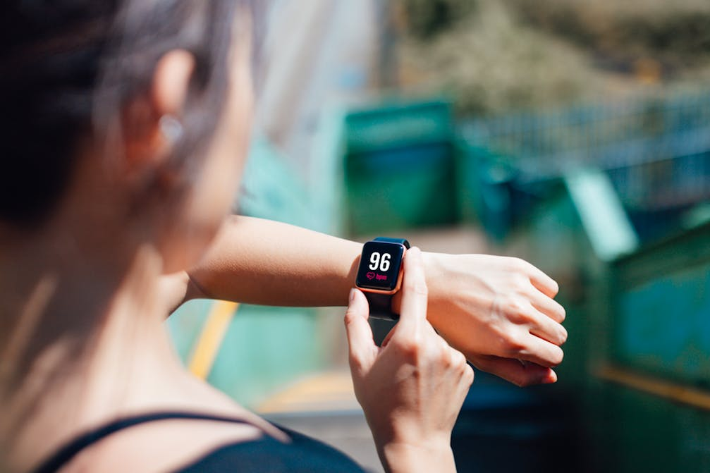 Tracking heart rate on watch