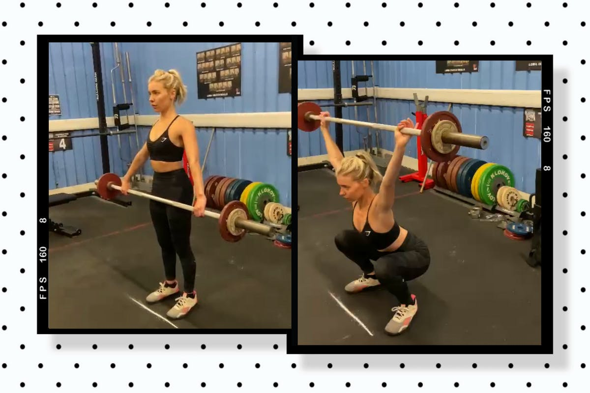 Collage of Chloe Gray doing weightlifting
