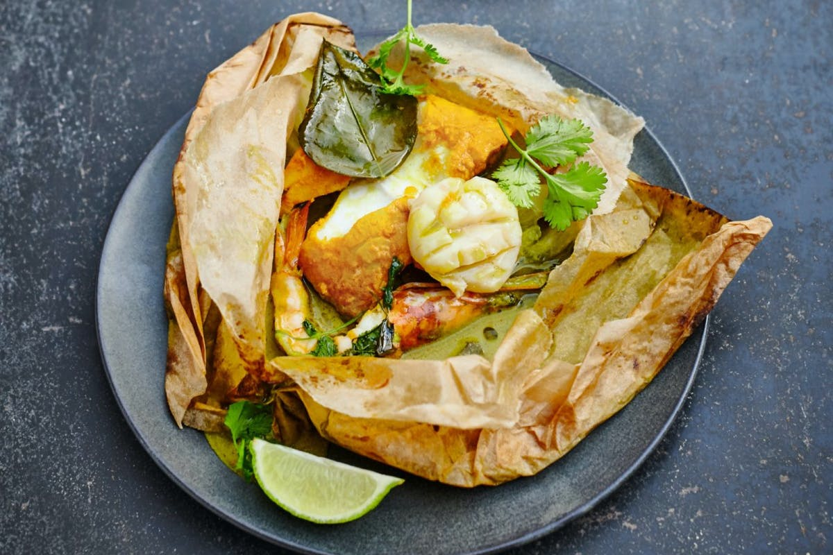 Jamie Oliver's extraordinary seafood parcels