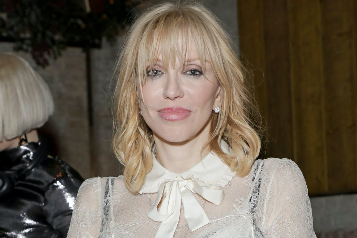 Courtney Love attends the Warner Music & CIROC BRIT Awards house party, in association with GQ, at The Chiltern Firehouse on February 18, 2020 in London, England. (Photo by David M. Benett/Dave Benett/Getty Images for Warner Music)