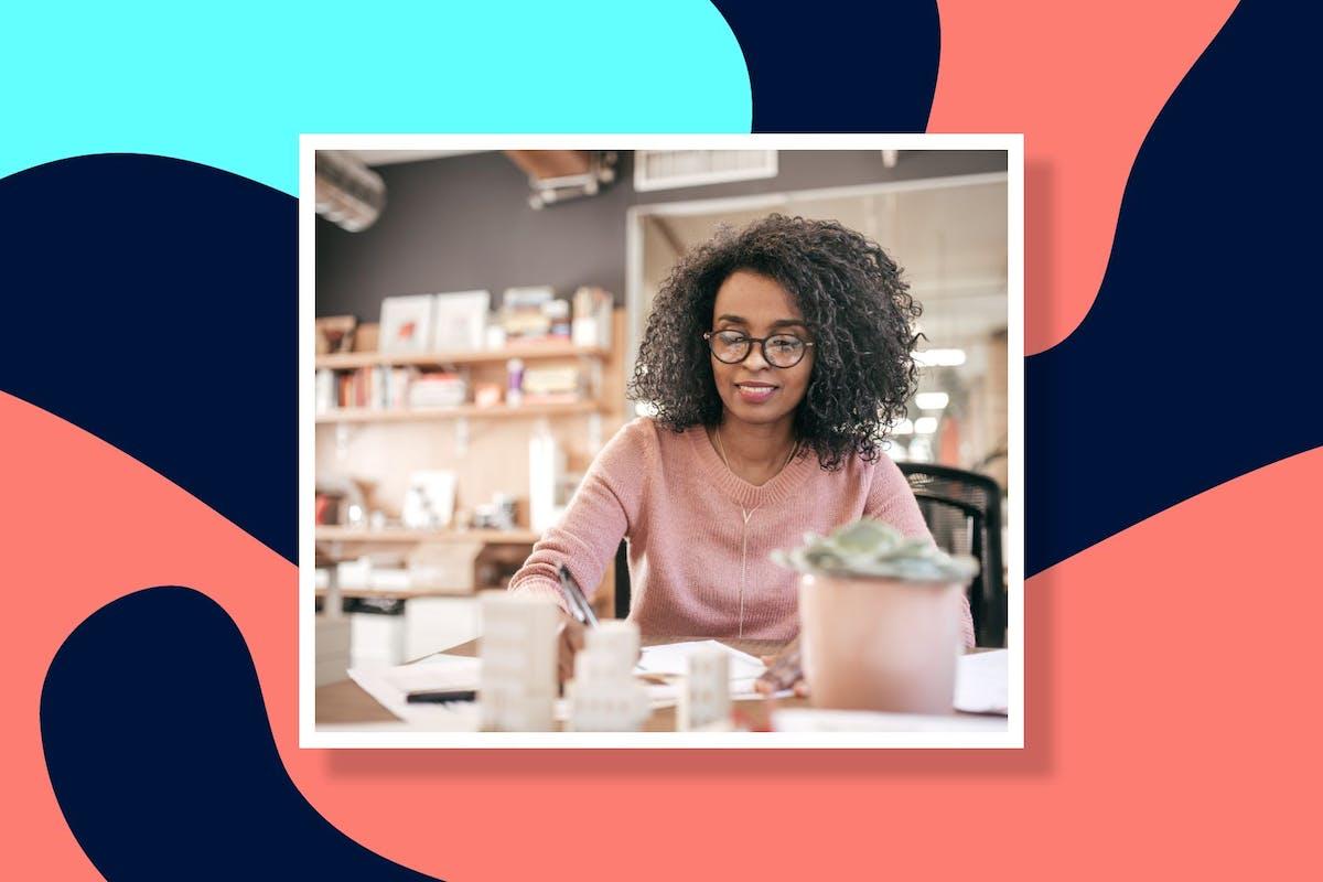woman managing debt
