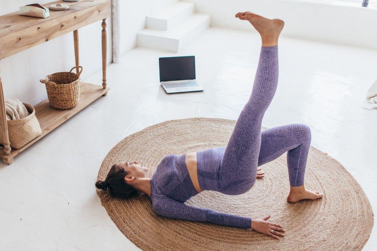 Single leg glute bridge and other outer leg exercises