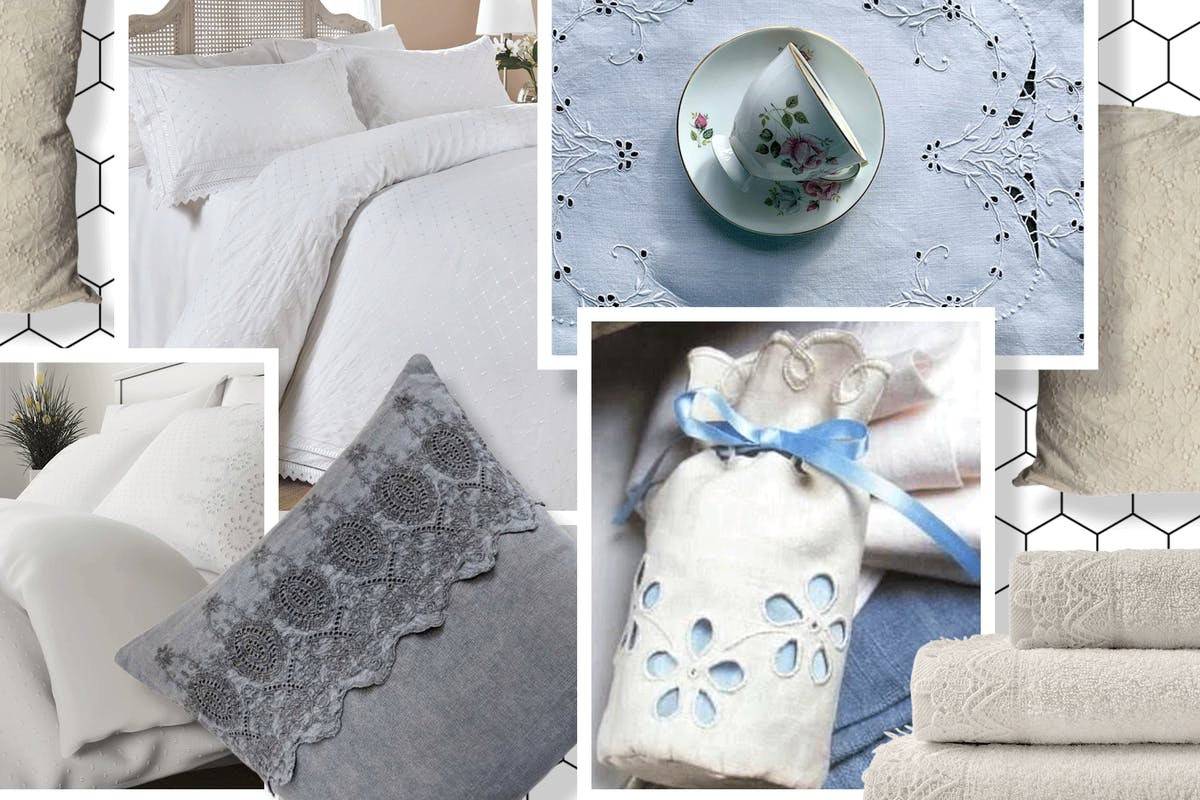 Broderie anglaise homeware