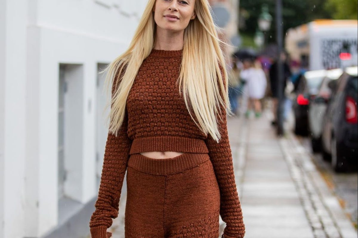 Knitted trousers are the new joggers