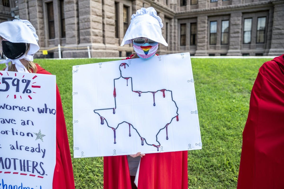 A woman campaigning in Texas
