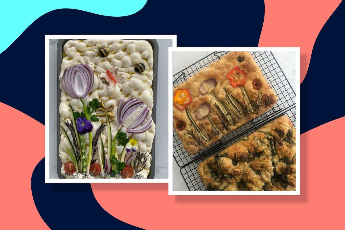 how to make floral focaccia
