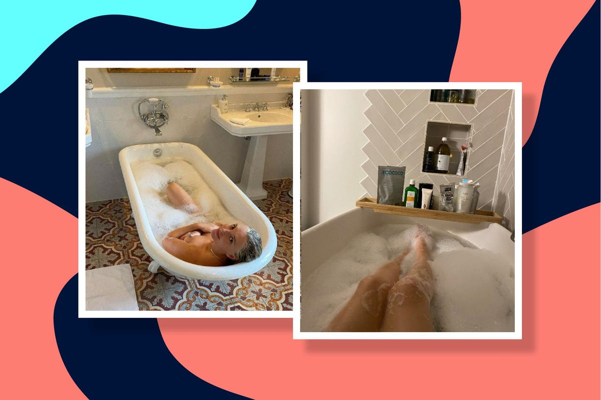 Estee Lalonde bathing